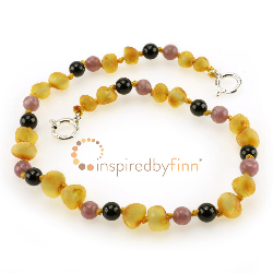 <u>Adjustable Unpolished Harvest + CURBS HYPERACTIVITY</u><br>Baltic Amber Wellness &Teething Anklet