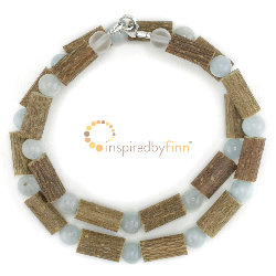 <u>Aquamarine Gemstone & Hazel Necklace - THE best for Skin Conditions</u>