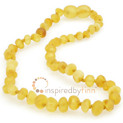 <u>Baltic Amber Necklace - Kids Unpolished Lemonade CS - Teething, Health & Wellness</u>