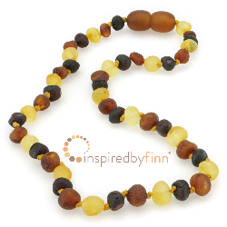 <u>Baltic Amber Necklace - Kids Unpolished Variation - Teething, Health & Wellness</u>
