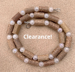 "<u>Adult size 17-22"" Hazel Necklace with Shiny White Stone Beads</u>"