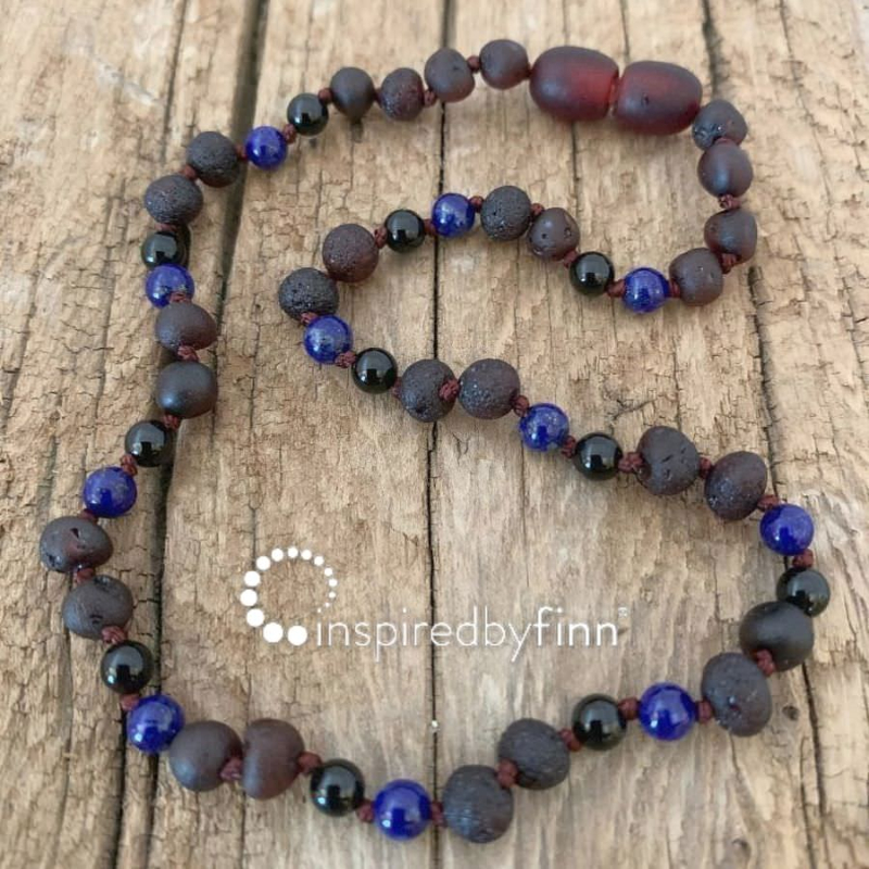 <u>NEW! Baltic Amber Necklace - Kids Unpolished Molasses + FOCUS & CONCENTRATION</u>