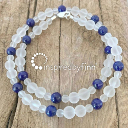 <u>New! Lapis Lazuli Gemstone</u><br>Kids Necklace