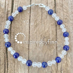 <u>NEW! Lapis Lazuli Gemstone</u><br>Adult Bracelet/Pocket Piece