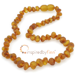 <u>Baltic Amber Necklace - Kids Unpolished Cider - Teething, Health & Wellness</u>