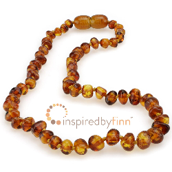 <u>Baltic Amber Necklace - Kids Polished Honey - Teething, Health & Wellness</u>