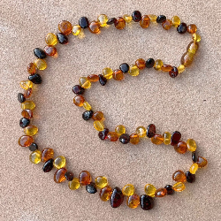 <u>New! One of a Kind - Polished Baltic Amber Adult Necklace</u> - No. 3