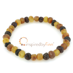 <u>Baltic Amber Elastic Bracelet - Unpolished Variation</u>