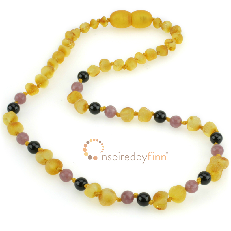<u>Baltic Amber Necklace - Kids Unpolished Harvest + CURBS HYPERACTIVITY</u>