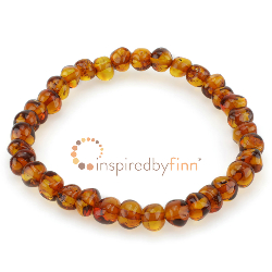 <u>Baltic Amber Elastic Bracelet - Polished Honey</u>