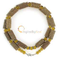 "<u>SALE! Discontinued - Kids & Adult Sizes 10.5-22"" Hazel Necklace Lemon Hazel</u>"