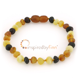 <u>SALE! Select Sizes - Baltic Amber Clasped Bracelet - Unpolished Diversity</u>