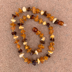 "<u>Tightening Our Belts SALE! Baltic Amber Necklace Apx 15""- Kids Teething, Health & Wellness - Colorful</u>"