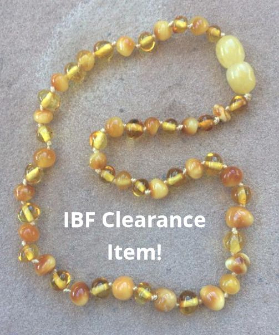 <u>CLEARANCE! Baltic Amber Necklace - Kids Polished Autumn Sun - Teething, Health & Wellness</u>