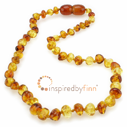 <u>Baltic Amber Necklace - Kids Polished Yellow & Honey - Teething, Health & Wellness</u>