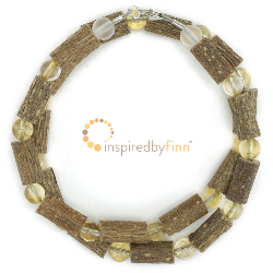 <u>Citrine Gemstone & Hazel Necklace-THE Best For Acid Reflux,Constipation & Digestive Disorders</u>