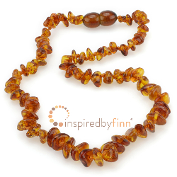 "<u>SALE! Kids 14-16"" Polished Honey Chips Baltic Amber Necklace</u>"