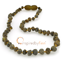 <u>Baltic Amber Necklace - Kids Unpolished Sea Amber - Teething, Health & Wellness</u>