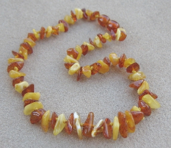 "<u>SALE! Kids 11.5-12.5""<br>CHIPS - Polished Mix Baltic Amber Necklace</u>"