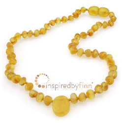 <u>Baltic Amber Necklace - Kids Unpolished Pendant Harvest - Teething, Health & Wellness</u>
