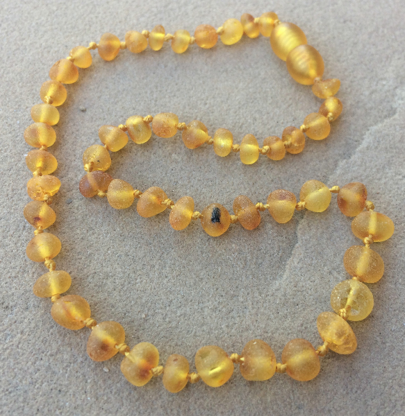 "<u>SALE! Size 10.5-12.5""<br>Unpolished 1 or 2 Spots - Light Necklace</u>"