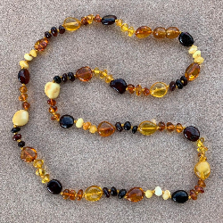 <u>New! One of a Kind - Polished Baltic Amber Adult Necklace</u> - No. 1