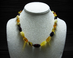<u>Baltic Amber Necklace - Polished Natural Faceted Multicolor</u><br>$44.47 w/ discount code: 25