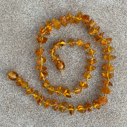 """<u>Tightening Our Belts SALE! Baltic Amber Necklace Apx. 15""""- Kids Teething, Health & Wellness - GSwirl"""