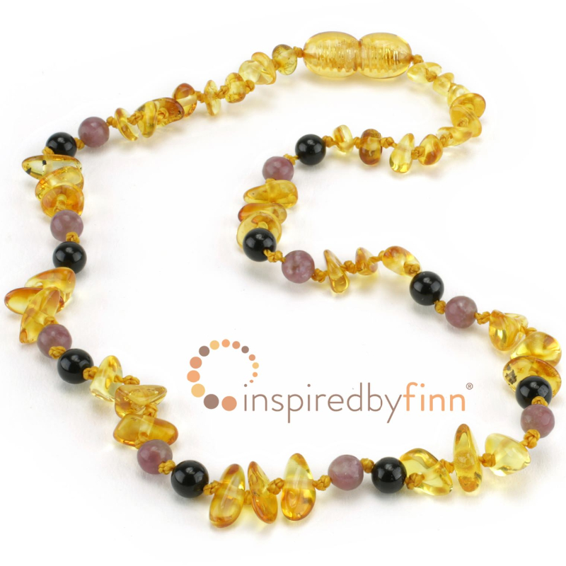 <u>Baltic Amber Necklace - Kids Polished Lemon Chips + CURBS HYPERACTIVITY</u>