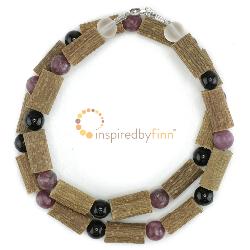 <u>Lepidolite & Black Tourmaline Gemstones & Hazel - Curbs Hyperactivity & Atten Def</u>