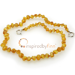 <u>Baltic Amber Anklet - Adjustable<br></u>Unpolished Harvest