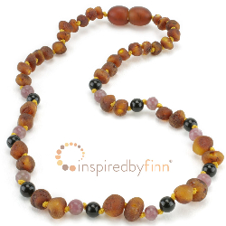 <u>Baltic Amber Necklace - Kids Unpolished Cognac + CURBS HYPERACTIVITY</u>