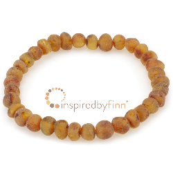 <u>Baltic Amber Elastic Bracelet - Unpolished Cider</u>