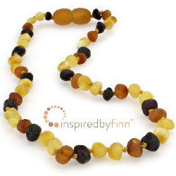 <u>Baltic Amber Necklace - Kids Unpolished Diversity - Teething, Health & Wellness</u>