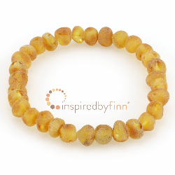 <u>Baltic Amber Elastic Bracelet - Unpolished Harvest</u>