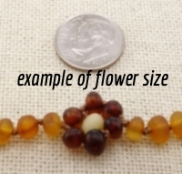 <u>Baltic Amber Necklace - Kids Unpolished Brilliant Flower - Health & Wellness Jewelry</u>