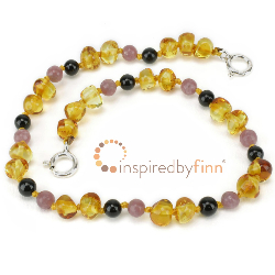 <u>Adjustable Baltic Amber Anklet-Golden Sw + Curbs Hyperactivity & Attn Deficit, Improves Focus</u>