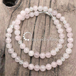 <u>NEW! Pure Love!  Rose Quartz</u><br>Adult Necklace