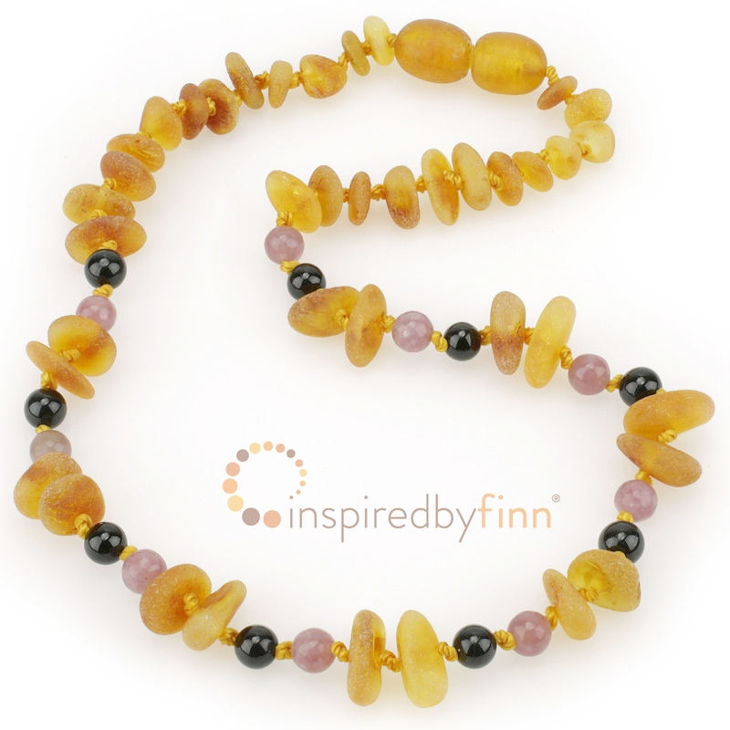 <u>Baltic Amber Necklace - Kids Unpolished Harvest Chips + CURBS HYPERACTIVITY</u>
