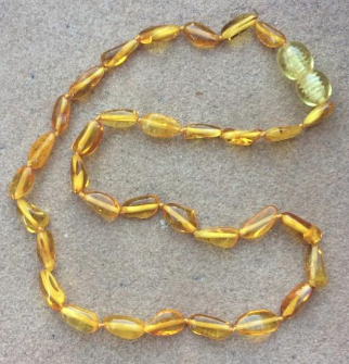 "<u>SALE! Kids & Adult Sizes 12-18""<br>Polished Summer Sun Baltic Amber Necklace</u>"
