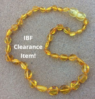 <u>CLEARANCE! Baltic Amber Necklace - Kids Polished Golden Rod - Teething, Health & Wellness</u>