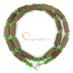 "<u>Discontinued - Kids 10.25"" Hazel Necklace/Adult Anklet - Mossy Hazel</u>"