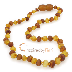 <u>Baltic Amber Necklace - Kids Unpolished Mixture - Teething, Health & Wellness</u>
