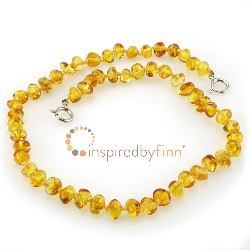 <u>Baltic Amber Anklet - Adjustable<br></u>Polished Golden Swirl