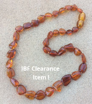 <u>CLEARANCE! Baltic Amber Necklace - Kids Polished Disc Necklace - Teething, Health & Wellness</u>