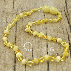 <u>Baltic Amber Necklace - Kids Polished Sunshine - Teething, Health & Wellness</u>