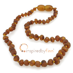 <u>Baltic Amber Necklace - Kids Unpolished Tea - Teething, Health & Wellness</u>