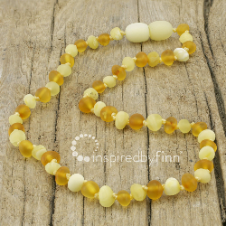 <u>Baltic Amber Necklace - Kids Unpolished Light Ambers - Teething, Health & Wellness</u>