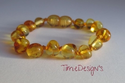 Child Size or Adult Size... Baltic Amber Anklet/Bracelet APPLE CIDER