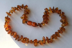 Baltic Amber Teething Necklace Nugget Style HONEY
